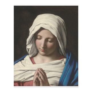 Sassoferrato - Madonna in prayer Flyer Design