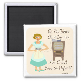 Sassy Fifties Gamer Housewife Refrigerator Magnets