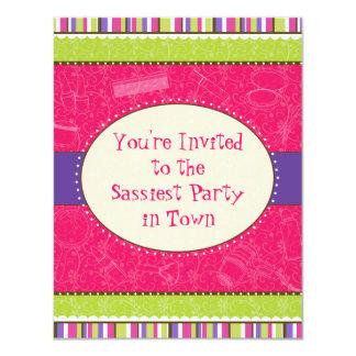 Sassy Girl Birthday Party Invitation