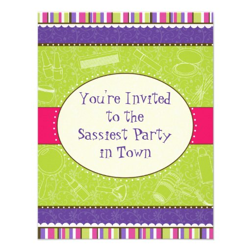Sassy Girl Birthday Party Invitation