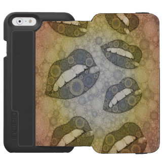 Sassy Lips Grunge Incipio Watson™ iPhone 6 Wallet Case
