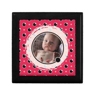 Sassy Polka Dots Photo Gift Box - Pink