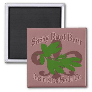 Sassy Root Beer  Basin St Soda Square Magnet
