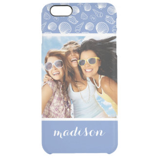 Sassy Seashell Pattern | Your Photo & Name Clear iPhone 6 Plus Case