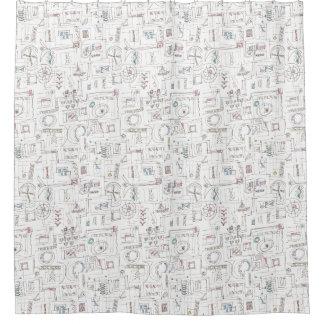 Sassy-Whimsical Pattern Print Shower Curtain