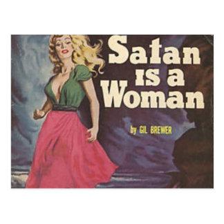 satan is a woman! postcards