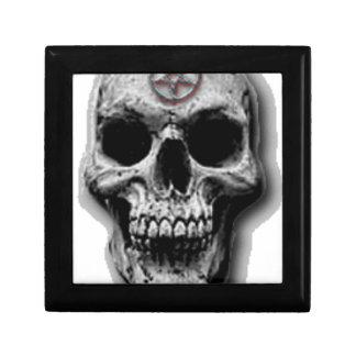 Satanic Evil Skull Design Small Square Gift Box