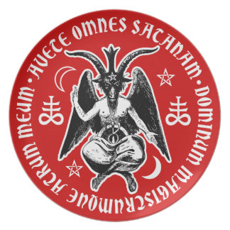 Satanic Goat Headed Baphomet Plate