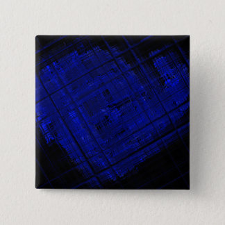 Satellite Stained Glass in Bold Blue 15 Cm Square Badge