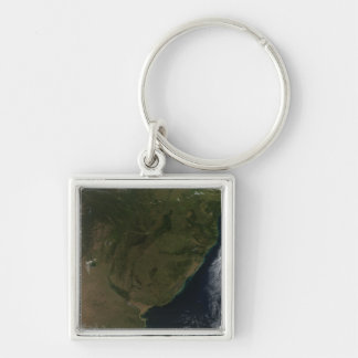 Satellite view of South America Key Ring