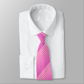 Satin dots - pink and orchid tie