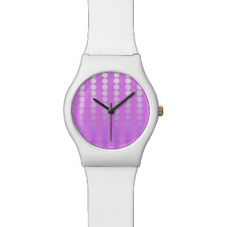 Satin dots - shades of orchid watches