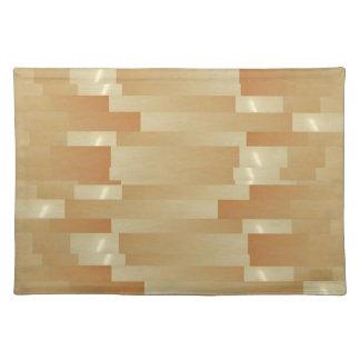 Satin Silk Golden Strips - Shadow Art101 Placemat