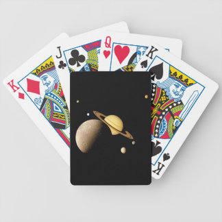 SATURN SYSTEM MONTAGE (solar system) ~ Bicycle Playing Cards