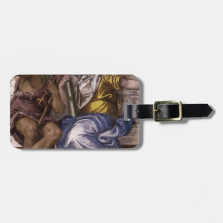 Saturn (Time) and Historia by Paolo Veronese Luggage Tag