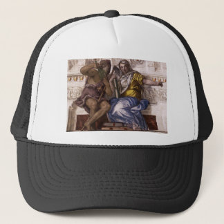 Saturn (Time) and Historia by Paolo Veronese Trucker Hat