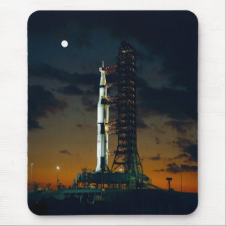 Saturn V Space Rocket Launch Mouse Pad