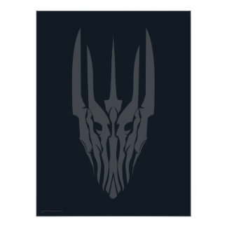 Sauron Head Icon Poster