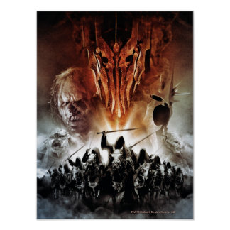 Sauron, Orcs, Witchking, and Ring Wraiths Poster