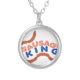 Sausage King Round Pendant Necklace