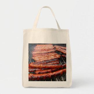 sausages tote bag