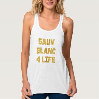 Sauvignon Blanc 4 Life Gold Foil Funny Wine Tank
