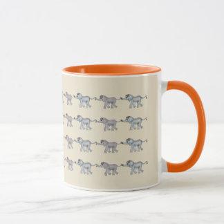 Savanna Elephant Row by The Happy Juul Company Mug