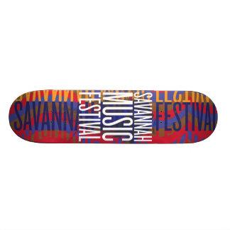 Savannah Music Festival 21.3 Cm Mini Skateboard Deck