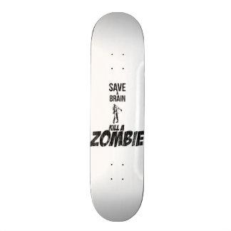 Save a brain Kill a zombie 21.3 Cm Mini Skateboard Deck