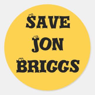 Save Jon's Eyeballs Classic Round Sticker