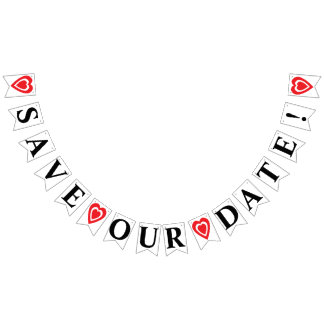 SAVE OUR DATE BUNTING