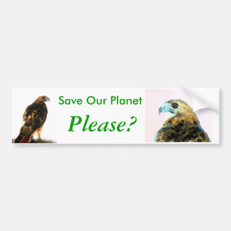 Save Our Planet series hawks bumper sticker