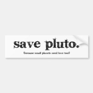 Save Pluto Bumper Sticker