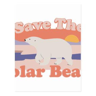 Save Polar Bears Postcard