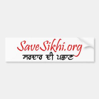 Save Sikhi Bumper Sticker