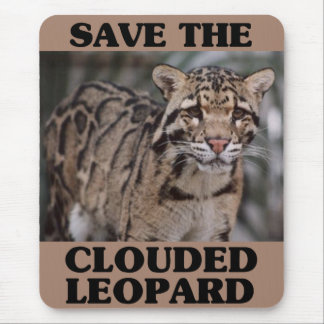 Save the Clouded Leopard Mouse Pad