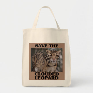 Save the Clouded Leopard Grocery Tote Bag