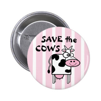 Save the Cows Cute Animal Rights Pins