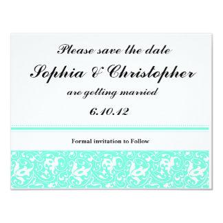 Save the Date 11 Cm X 14 Cm Invitation Card