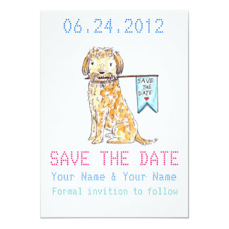 SAVE THE DATE 13 CM X 18 CM INVITATION CARD
