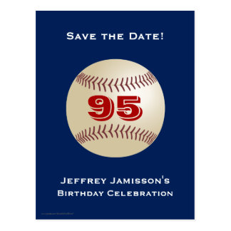 Save the Date 95th Birthday Baseball Postcard Postcard