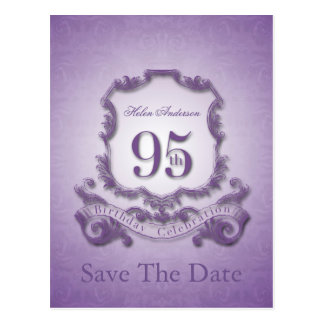 Save the Date 95th Birthday Personalized Postcard