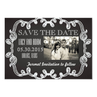Save the Date 9 Cm X 13 Cm Invitation Card