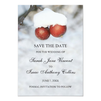 Save the date announcement - winter apples