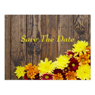 Save the Date--Autumn Wedding Postcard