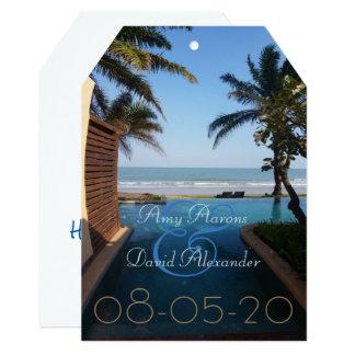 Save the Date Beach 13 Cm X 18 Cm Invitation Card