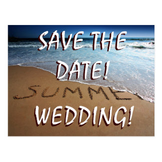 Save The Date Beach Summer Wedding Postcards