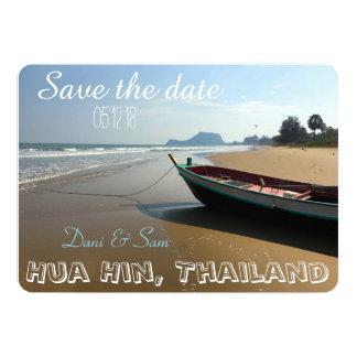Save the Date Beach Wedding 13 Cm X 18 Cm Invitation Card