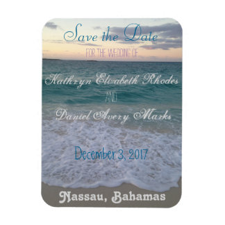 Save the Date Beach Wedding Magnet