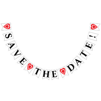 SAVE THE DATE BUNTING